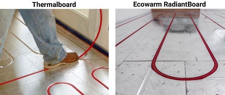 Compare Ecowarm RadiantBoard to Thermalboard