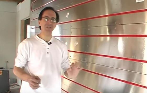 Ecowarm Radiant Board in a wall