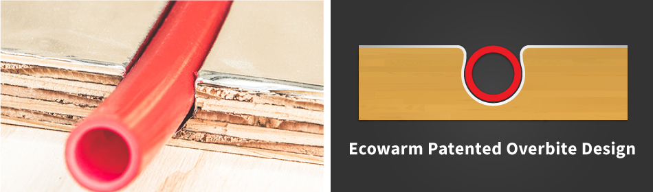 Ecowarm Patented Overbite Design Cross Section