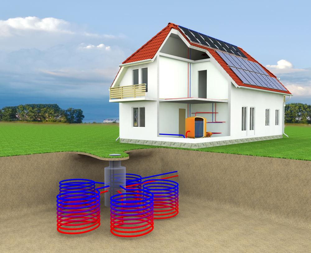 Radiant Floor Heat And Geothermal Heating Net Zero Energy Home